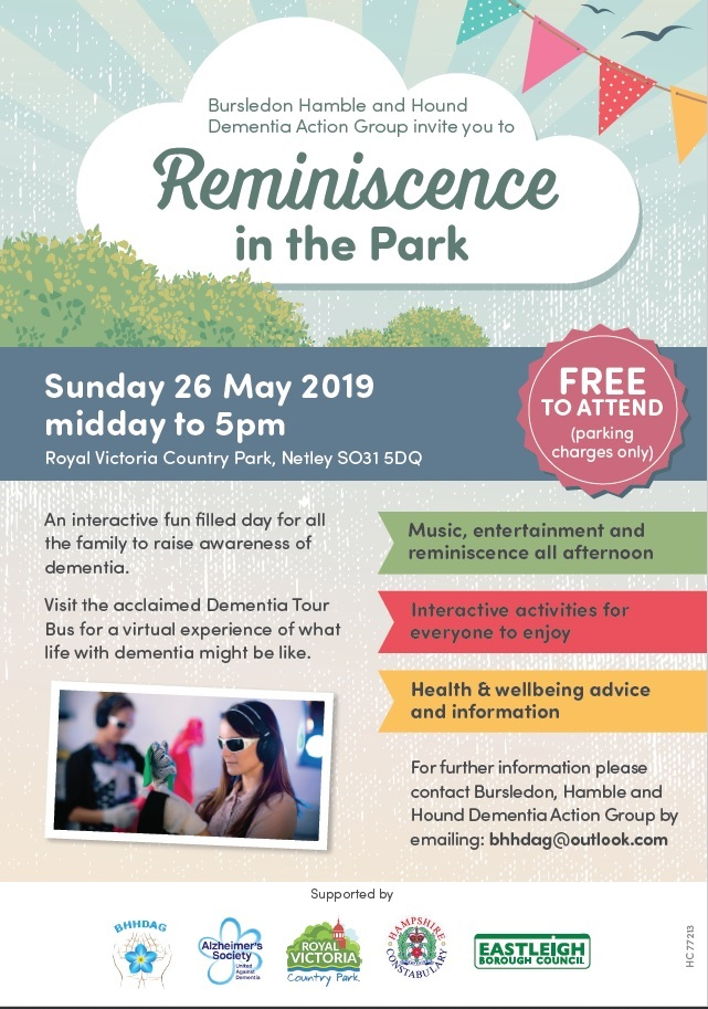 Reminiscence in the Park dementia friendly festival poster